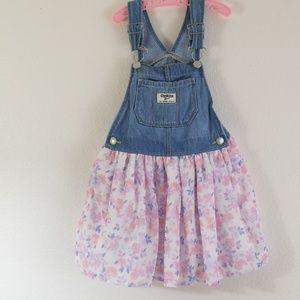 Oshkosh Floral overall dress